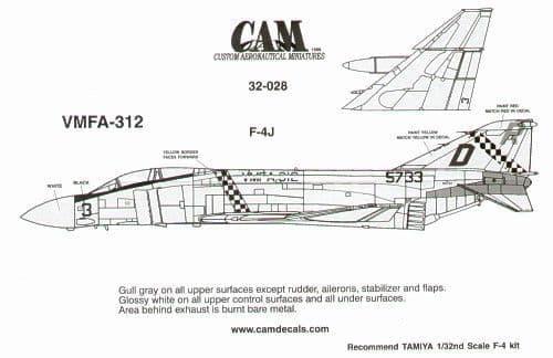 CAM 1/32 McDonnell F-4J Phantom # 32028