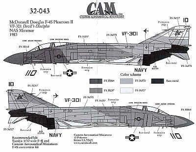 CAM 1/32 McDonnell F-4S Phantom # 32043