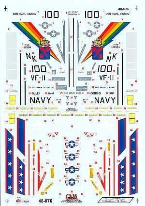 CAM 1/48 Grumman F-14D Tomcats # 48076