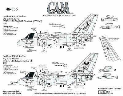 CAM 1/48 Lockheed S-3A Shadow # 48056