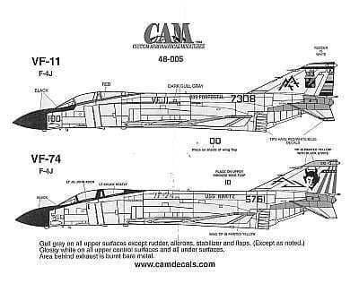 CAM 1/48 McDonnell F-4J Phantom # 48005