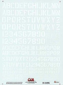 CAM 1/48 Modern USN Letters and Numbers in White # 48A06
