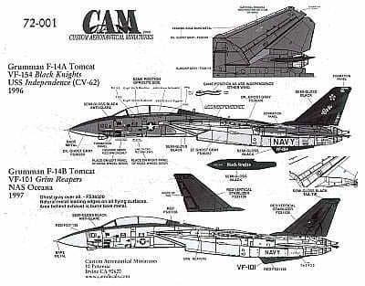 CAM 1/72 Grumman F-14A/F-14B Tomcat # 72001