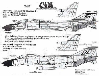 CAM 1/72 McDonnell F-4B Phantom # 72017
