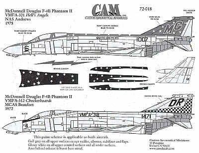 CAM 1/72 McDonnell F-4B Phantom # 72018