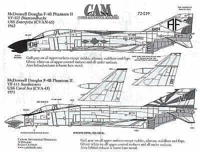 CAM 1/72 McDonnell F-4B Phantom # 72019