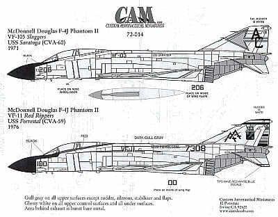 CAM 1/72 McDonnell F-4J Phantom # 72014