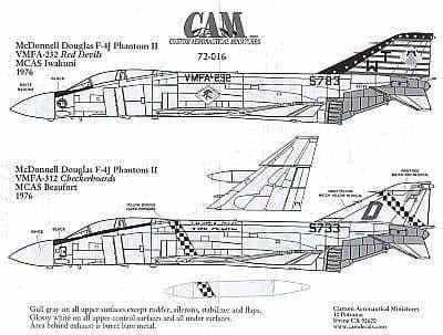 CAM 1/72 McDonnell F-4J Phantom # 72016