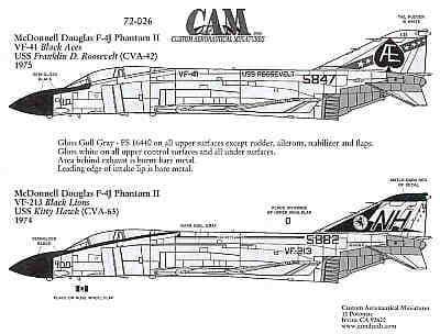 CAM 1/72 McDonnell F-4J Phantom # 72026