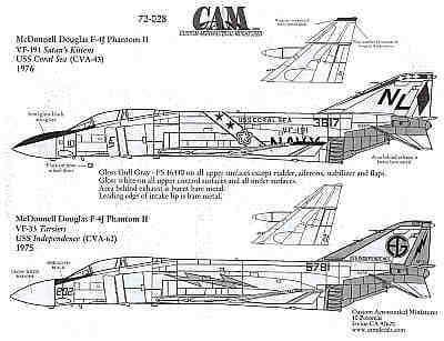 CAM 1/72 McDonnell F-4J Phantom # 72028