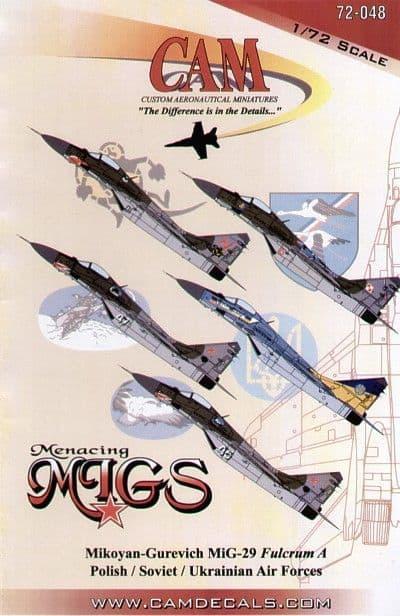 CAM 1/72 Mikoyan MiG-29 Fulcrum # 72048