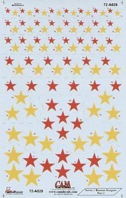 CAM 1/72 Soviet Red Stars National Insignia # 72A28