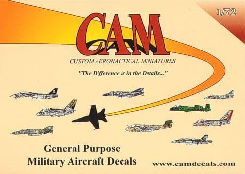 CAM 1/72 USAAC Grey FS36231 Stencil Letters and Numbers Part II # 72A08