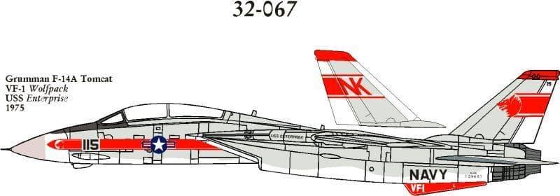CAM Decals 1/32 Grumman F-14A Tomcat # 32067