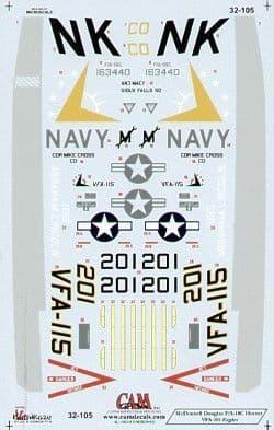 CAM Decals 1/32 Grumman F-14B Tomcat # 32119