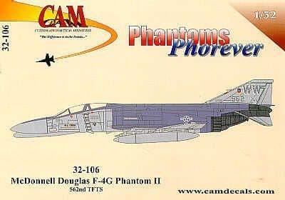 CAM Decals 1/32 McDonnell F-4G Phantom Wild Weasel # 32106