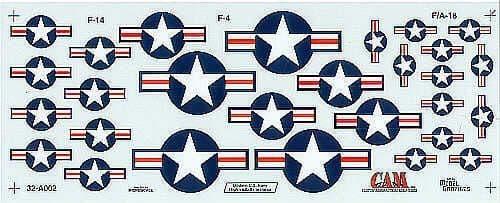 CAM Decals 1/32 Modern USN Hi-Vis National Insignia # 32A02