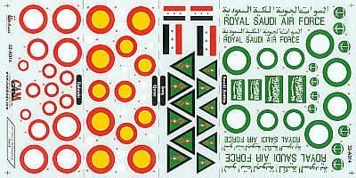 CAM Decals 1/32 Persian Gulf Air Forces Part 1 # 32A14