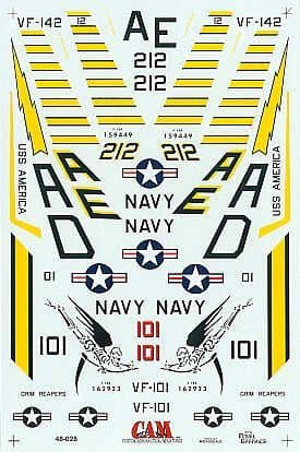 CAM Decals 1/48 Grumman F-14A/F-14B Tomcat # 48028