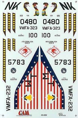 CAM Decals 1/48 McDonnell F-4B Phantom # 48026