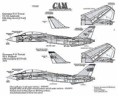 CAM Decals 1/72 Grumman F-14A Tomcat # 72021