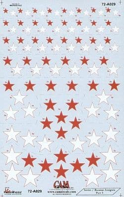 CAM Decals 1/72 Soviet Red Stars National Insignia # 72A29
