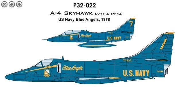 CAM PRO 1/32 Douglas A-4F/TA-4J Skyhawk # P3222
