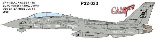CAM PRO 1/32 Grumman F-14A Tomcat # 3233