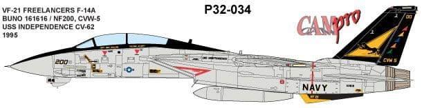 CAM PRO 1/32 Grumman F-14A Tomcat # 3234