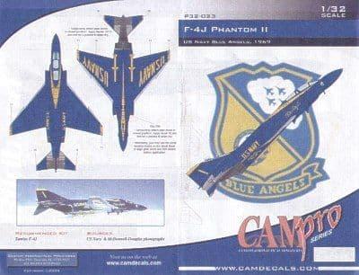 CAM PRO 1/32 McDonnell F-4J Phantom Blue Angels 1969 # 3223