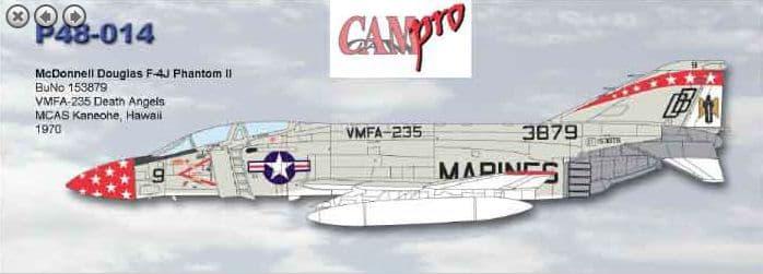 CAM PRO 1/48 McDonnell-Douglas F-4J Phantom II # 4814