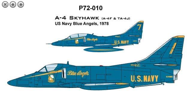 CAM PRO 1/72 Douglas A-4F/TA-4J Skyhawk # 7210