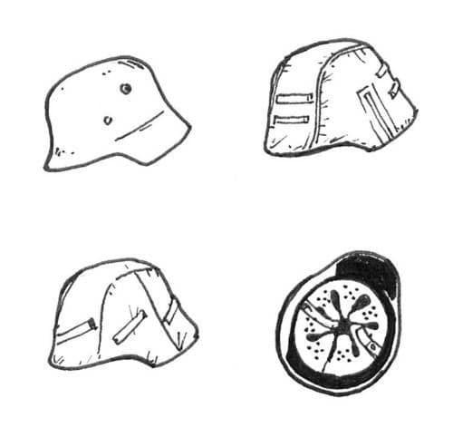 CMK 1/35 German WWII Helmets x 6 # B35085
