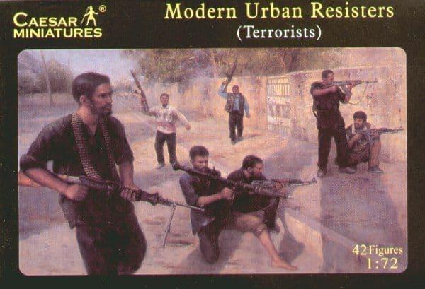 Caesar Miniatures 1/72 Modern Urban Resisters (Terrorists) # H031