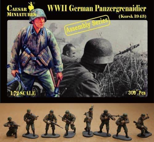 Caesar Miniatures 1/72 WWII German Panzergrenadier Kursk # 7715