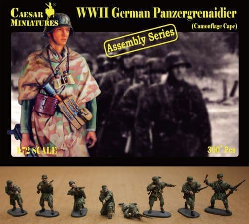 Caesar Miniatures 1/72 WWII German Panzergrenadiers Camouflage C