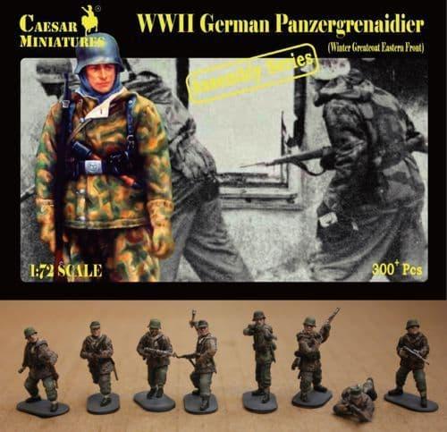 Caesar Miniatures 1/72 WWII German Panzergrenaidier (Winter Greatcoat Eastern Front) # 7214