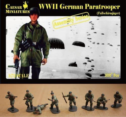 Caesar Miniatures 1/72 WWII German Paratrooper (Fallschirmjager) # 7212