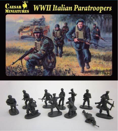 Caesar Miniatures 1/72 WWII Italian Paratroopers # 075