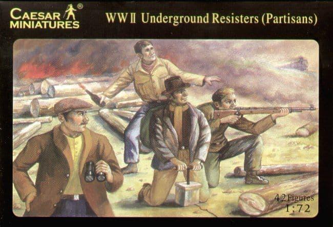 Caesar Miniatures 1/72 WWII Underground Resisters (Partisans)?# 006