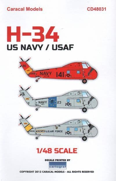 Caracal Decals 1/48 Sikorsky H-34 # 48031