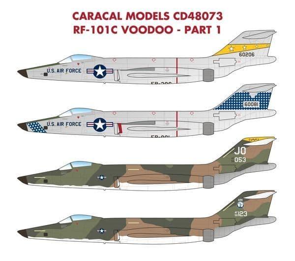 Caracal Decals 1/48 USAF McDonnell RF-101C Voodoo # 48073