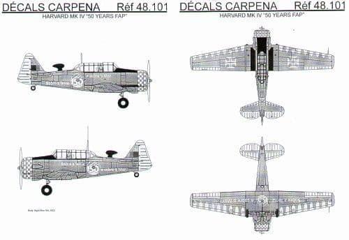Colorado Decals 1/48 Harvard Mk.IV # 48101