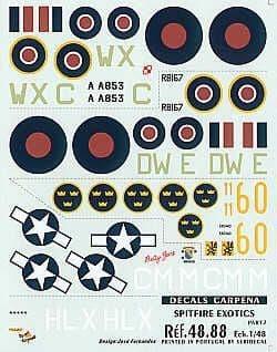 Colorado Decals 1/48 International Supermarine Spitfire Part 7 # 48088