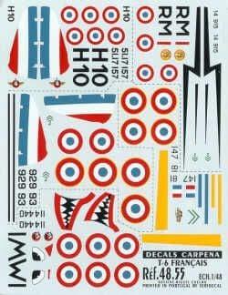 Colorado Decals 1/48 North American T-6 Texan France Pt 1 # 4805