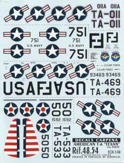 Colorado Decals 1/48 North-American T-6 Texan Part 1 # 48054