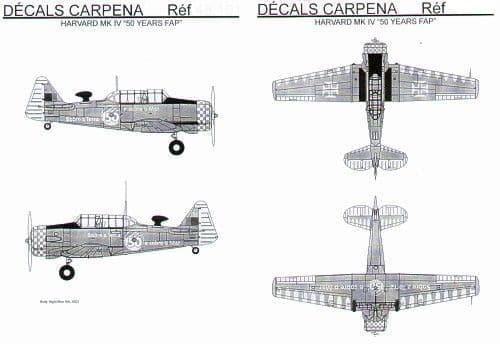 Colorado Decals 1/72 Harvard Mk.IV # 72102