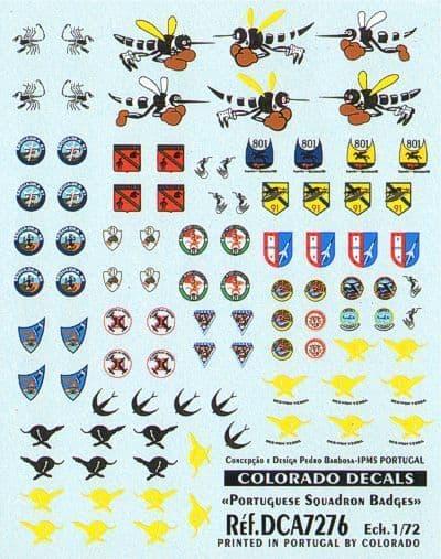 Colorado Decals 1/72 Portuguese Squadron Badges # 72076