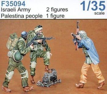 Czech Master 1/35 2 x Israeli army and 1 x Palestinian # F35094