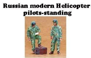 Czech Master 1/35 2 x Modern Russian Helicopter Pilots Standing
